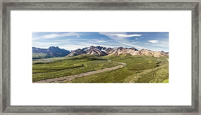 Alaska Range From Polychrome Pass Framed Print