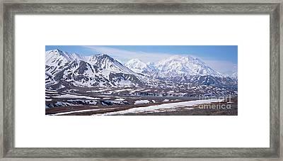 Alaska Range In Spring Snow Denali N P Framed Print