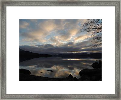Alaska Reflections Framed Print by Karen Horn