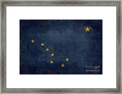 Alaska State Flag Framed Print by Bruce Stanfield