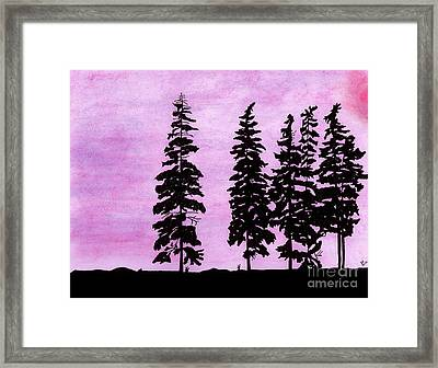 Framed Print featuring the drawing Colorful - Alaska - Sunset by D Hackett