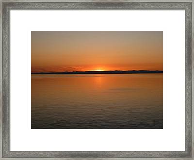 Alaskan Dawn Framed Print