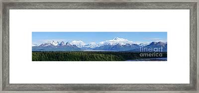 Alaskan Denali Mountain Range Framed Print