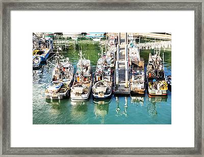 Alaskan Fishing Village Framed Print