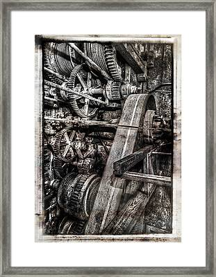 Alaskan Gold-dredge Bucket Gear Train Framed Print by Daniel Hagerman
