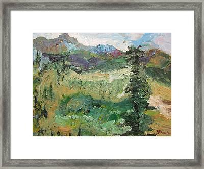 Alaskan Landscape Framed Print by Shea Holliman
