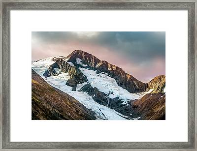 Alaskan Mountain Glacier Framed Print