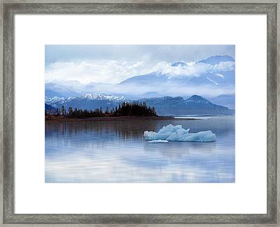 Framed Print featuring the digital art Alaskan Mountain Side by Nina Bradica