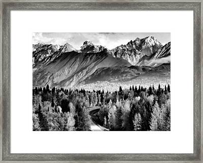 Framed Print featuring the photograph Alaskan Mountains by Katie Wing Vigil