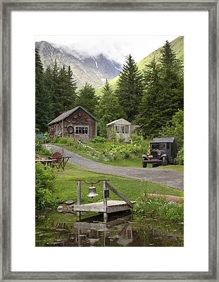 Alaskan Pioneer Mining Camp Framed Print