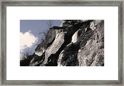 Alaskan Rocky Ledges Framed Print