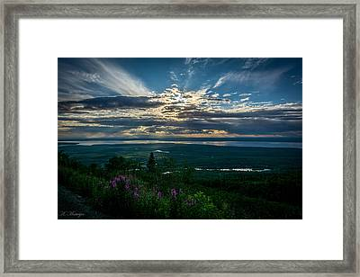 Alaskan Summer Sunset Framed Print