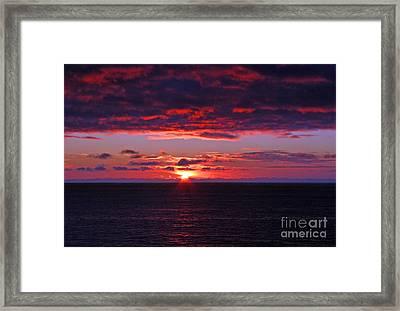 Alaskan Sunset Framed Print