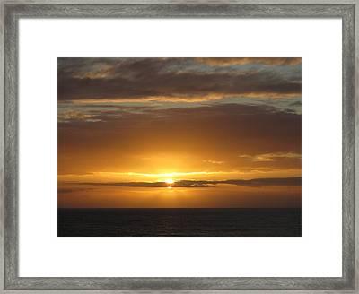 Framed Print featuring the photograph Alaskan Sunset by Jennifer Wheatley Wolf