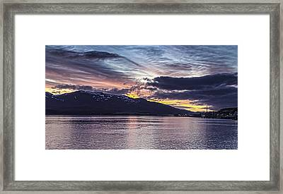 Alaskan Sunset On The Tongass Narrows Framed Print