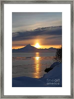 Alaskan Sunset Framed Print by Rick  Monyahan