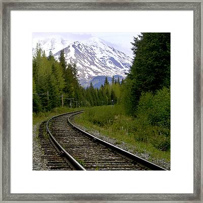 Alaskan Tracks Framed Print by Art Block Collections