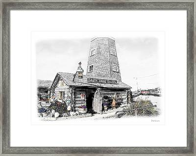 Framed Print featuring the photograph Alaska's Salty Dawg Saloon In B/w  by Dyle   Warren