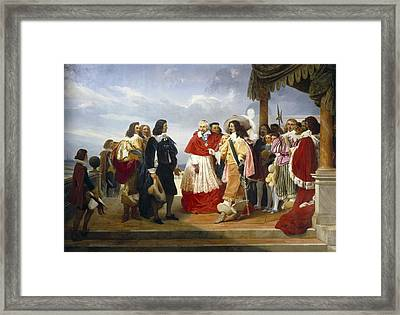 Alaux, Jean 1786-1864. Poussin Arrived Framed Print by Everett