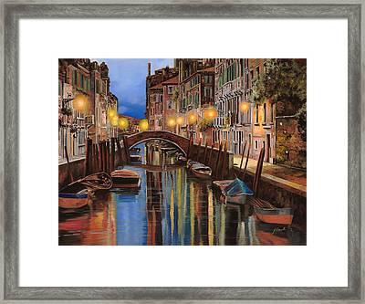alba a Venezia  Framed Print by Guido Borelli