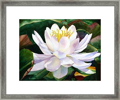 Framed Print featuring the painting Alba Flora by Karen Mattson