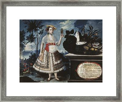 Alban, Vicente 18th C.. A Young Woman Framed Print
