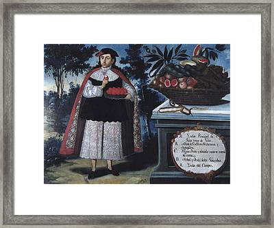 Alban, Vicente 18th C.. Quitos Indian Framed Print by Everett