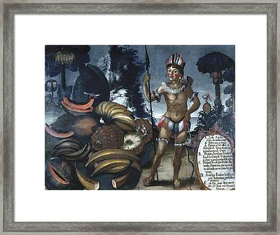 Alban, Vicente 18th C.. Yumbo Indian Framed Print by Everett