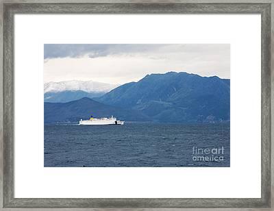 Albanian Coast Framed Print by Gabriela Insuratelu