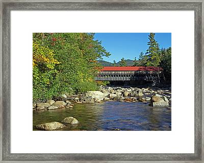 Albany Covered Bridge In The White Mountains Framed Print