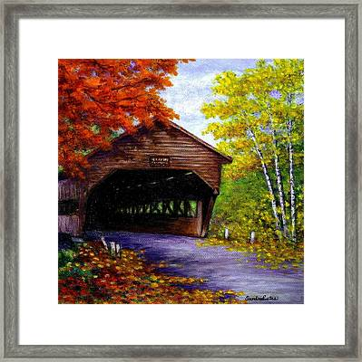 Albany Covered Bridge Framed Print