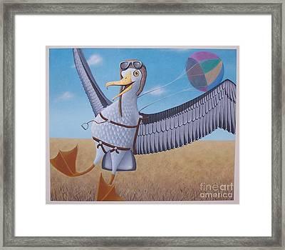 Albatross Landing Framed Print by Susan Williams