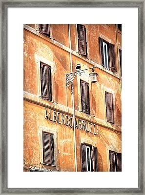 Albergo Abruzzi Framed Print by Valentino Visentini