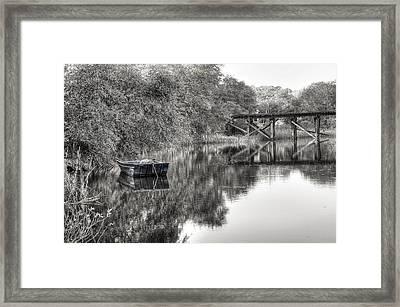 Albergottie Creek Trestle Framed Print by Scott Hansen