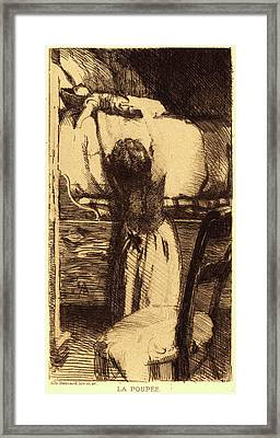 Albert Besnard, French 1849-1934, The Doll La Poupée Framed Print