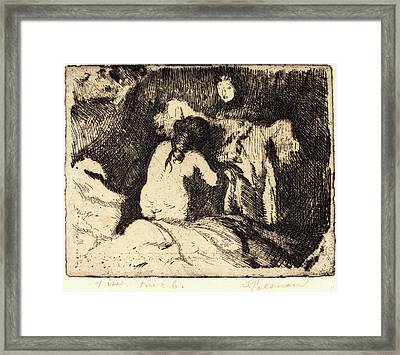 Albert Besnard, Getting Up Le Lever, French Framed Print by Litz Collection