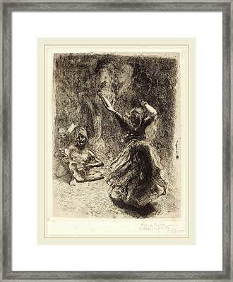 Albert Besnard, The Dancer Of Tanjore La Bayadère De Framed Print