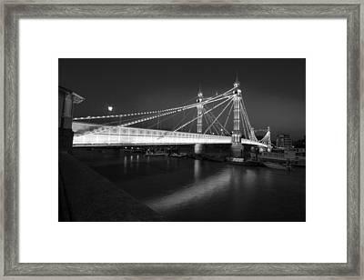 Albert Bridge At Night  Framed Print