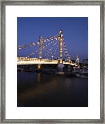 Albert Bridge London Thames At Night  Framed Print
