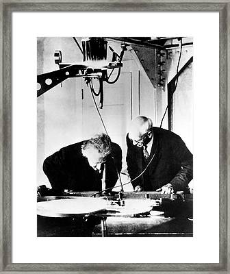 Albert Einstein And Charles St. John Framed Print by Emilio Segre Visual Archives/american Institute Of Physics
