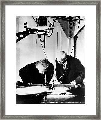 Albert Einstein And Charles St. John Framed Print
