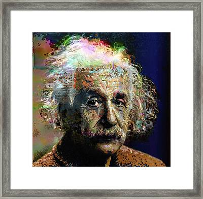 Albert Einstein Framed Print by Daniel Hagerman
