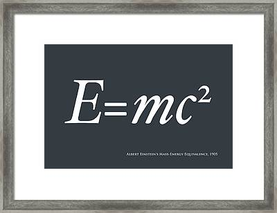 Albert Einstein E Equals Mc2 Framed Print by Michael Tompsett