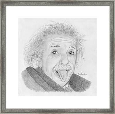 Albert Einstein Framed Print