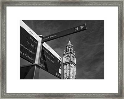 Albert Memorial Clock Framed Print