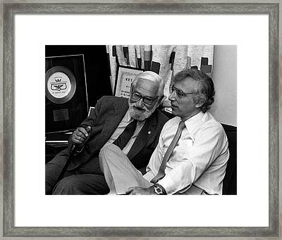 Albert Sabin And Robert Gallo Framed Print by National Cancer Institute