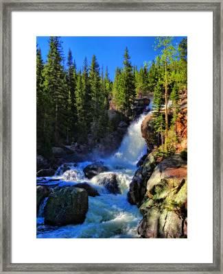 Alberta Falls In Rocky Mountain National Park Framed Print