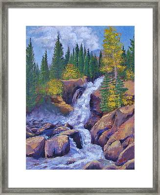 Alberta Falls Framed Print by Margaret Bobb