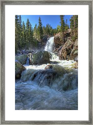 Alberta Falls Framed Print by Perspective Imagery