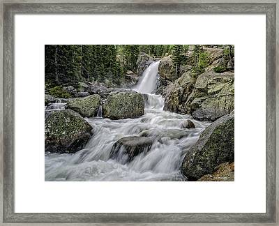 Alberta Falls Framed Print by Tom Wilbert